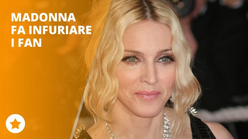 Madonna e' la regina… dei ritardatari