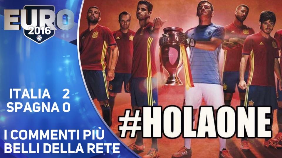 Italia batte Spagna, i commenti pie' divertenti sul web
