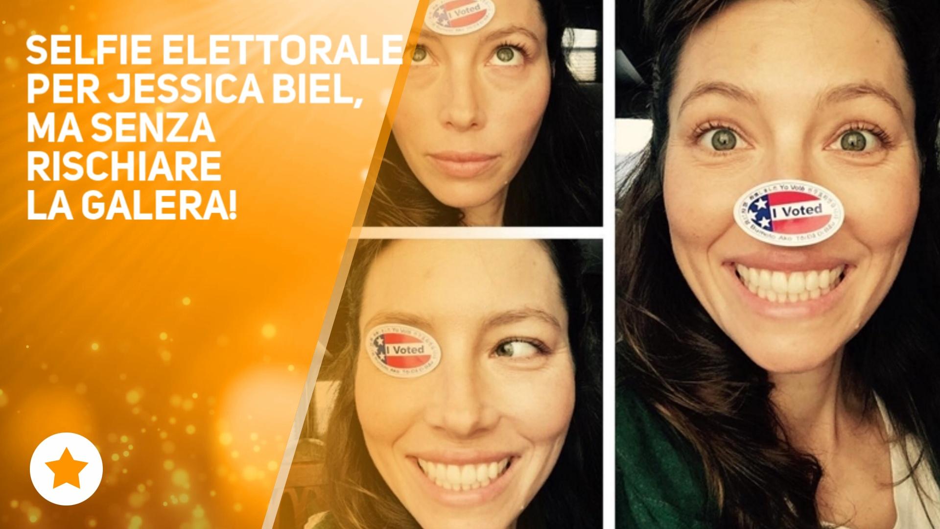 Jessica Biel: 'Maritino i selfie al voto si fanno cosi''