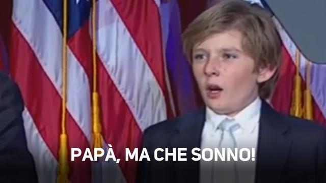 Barron Trump, il vero fenomeno virale e' lui