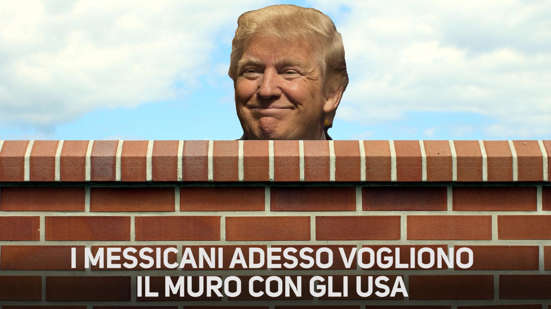 Trump costruira' il muro e i messicani lo aiuteranno