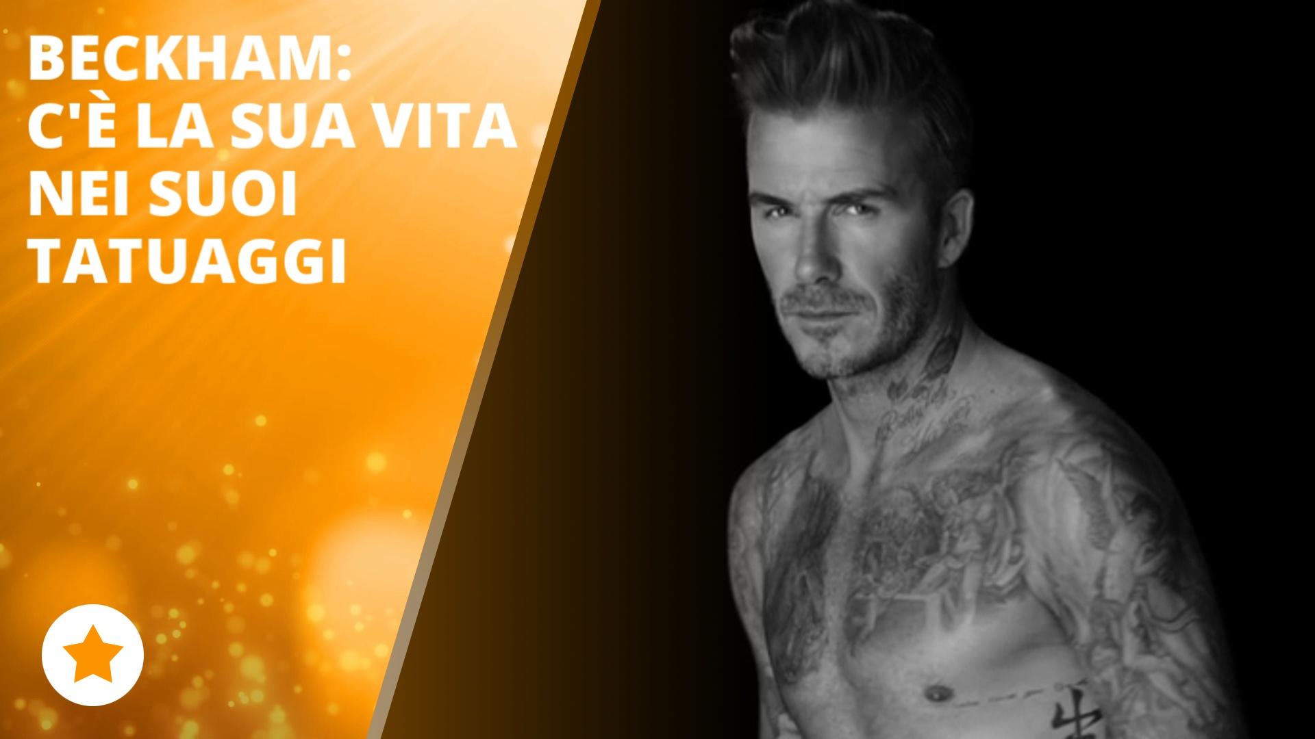 David Beckham mostra e spiega tutti i suoi tatuaggi