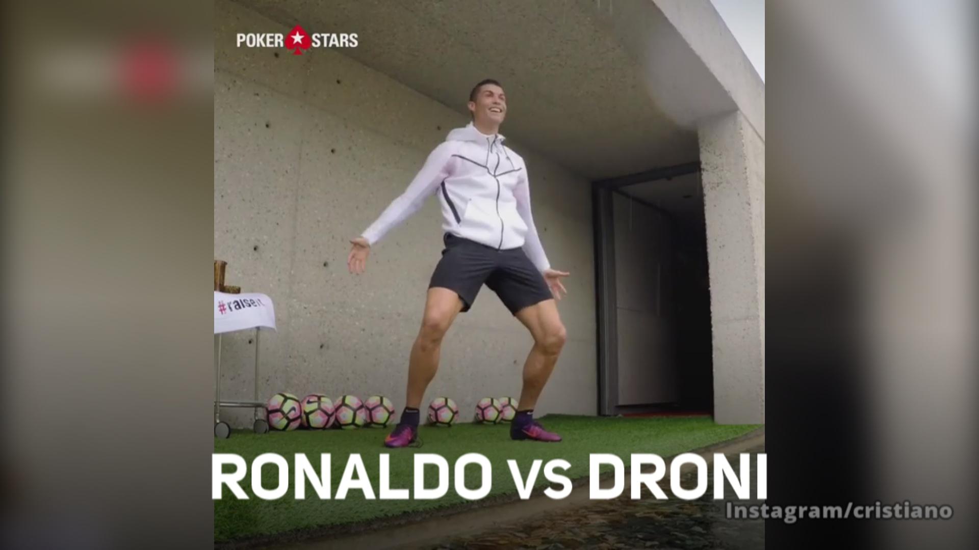 Ronaldo vs droni: la sfida e' accettata