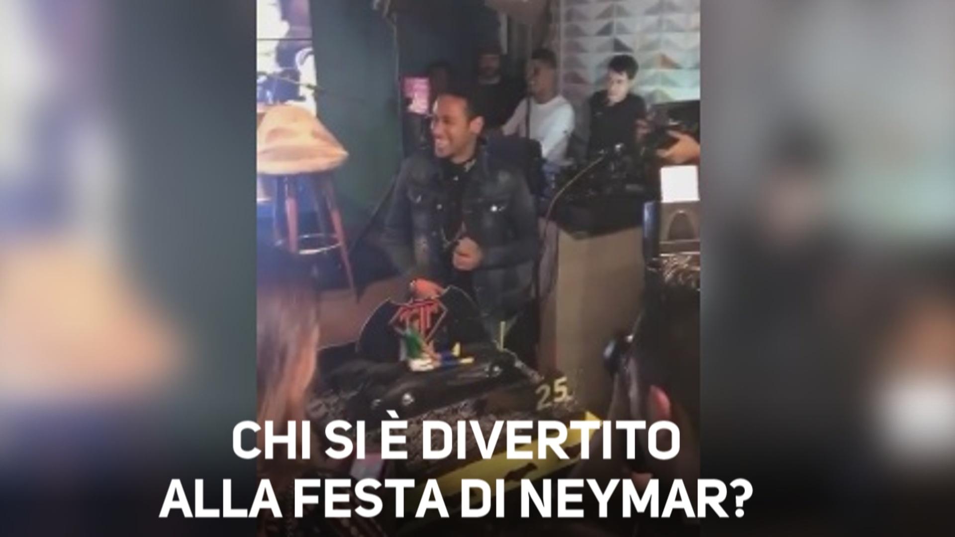 Neymar, trapelate le immagini della festa di compleanno