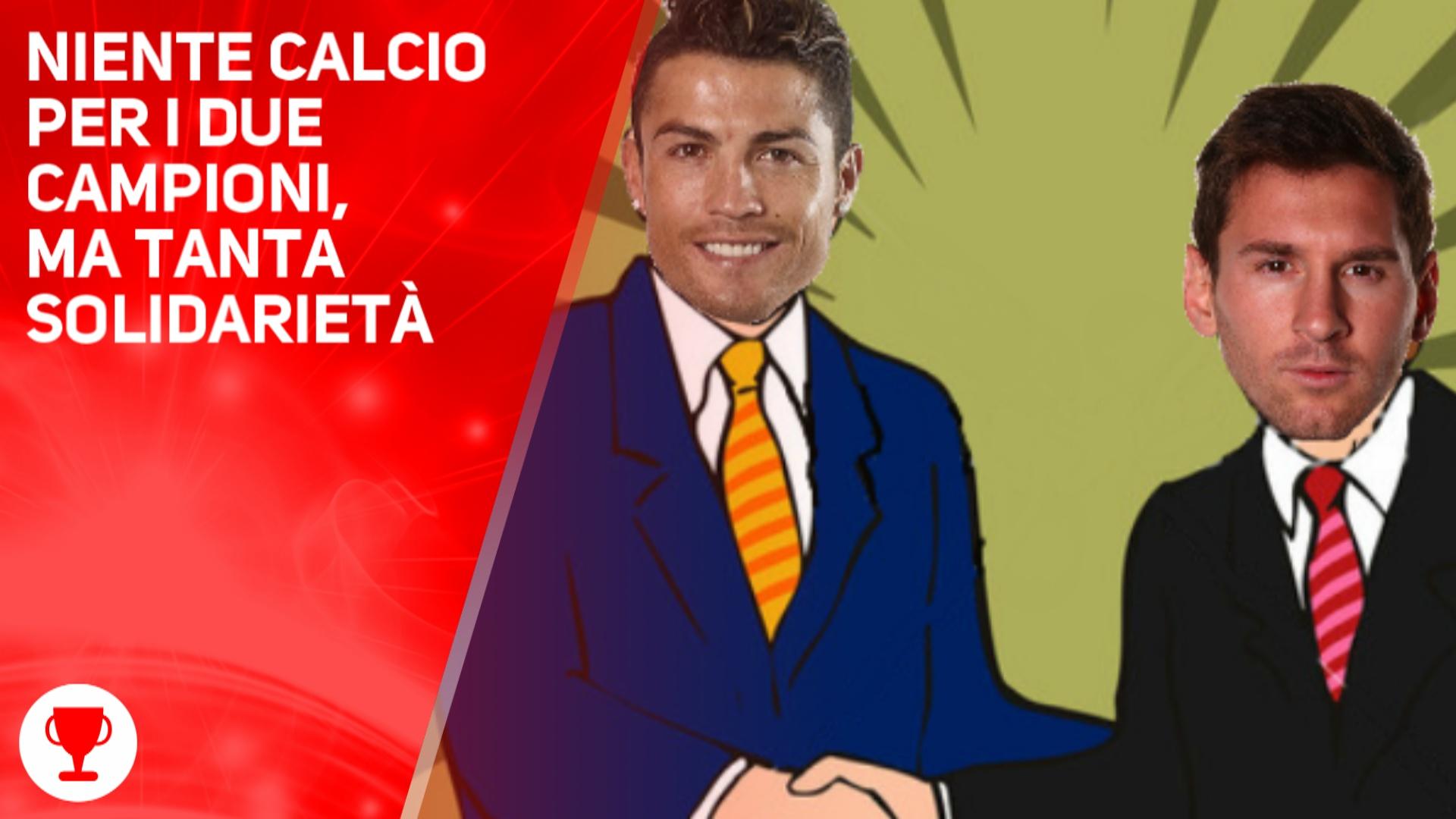 Leo Messi e Cristiano Ronaldo insieme per la Siria