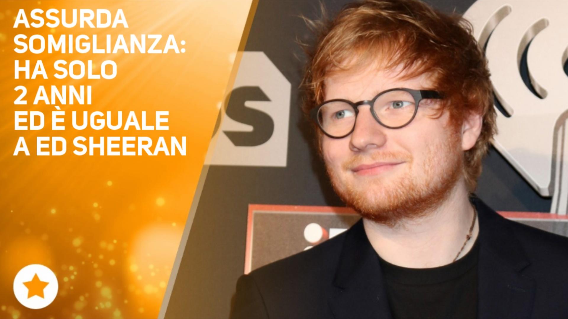 Ed Sheeran ha un sosia e la sua eta' vi stupira'
