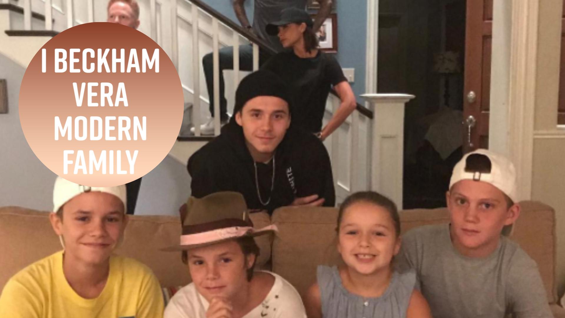 I Beckham sul set di Modern Family